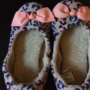 Kids UGG bow cheetah slippers